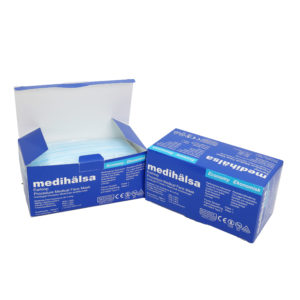 Swedish Medihälsa three-layer surgical mask (blue) 50 packs