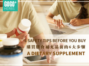 Preparation before buying dietary supplements